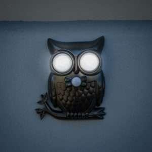 Idea regalo Owl Light  Luce da esterno a forma di gufo con sensore di movimento