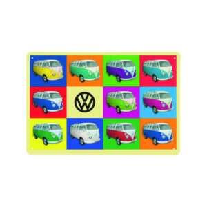 Idea regalo Targa Metallica Furgoncino VW