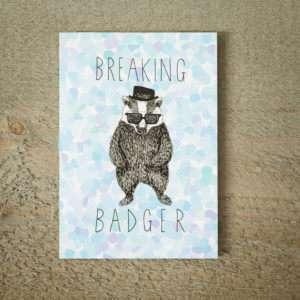Idea regalo Biglietto DAuguri Breaking Badger