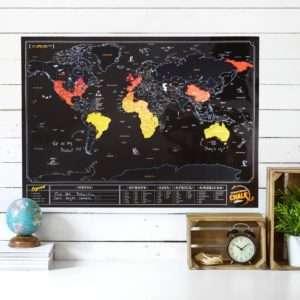 Idea regalo Mappa del Mondo da Grattare  Ardesia