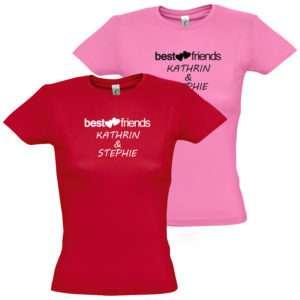 Idea regalo T-Shirt Migliori Amiche – Rossa