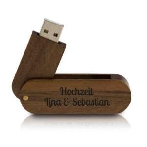 Idea regalo Chiavetta USB in legno personalizzabile con incisione