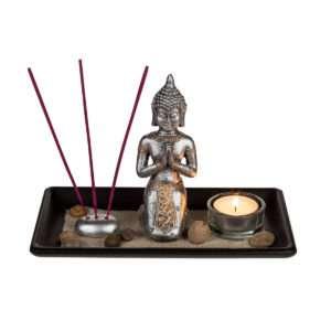 Idea regalo Set decorativo – Buddha con pietre e sabbia decorativi