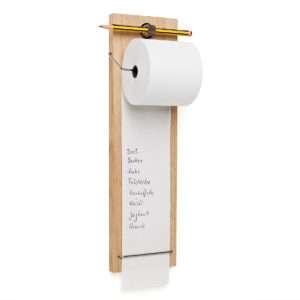 Idea regalo Rotolo di carta con supporto per lista della spesa