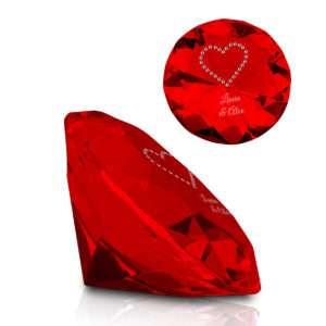 Idea regalo Diamante di cristallo con cuore e incisione in Swarovski