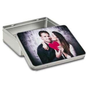 Idea regalo Scatola in metallo personalizzabile con foto