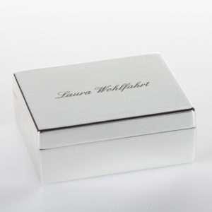 Idea regalo Piccolo portagioielli in argento placcato personalizzabile