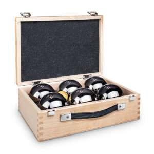 Idea regalo Gioco delle bocce con scatola personalizzabile – Re/Regina