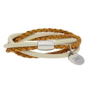 Idea regalo Bracciale cinturino in pelle intrecciata personalizzabile