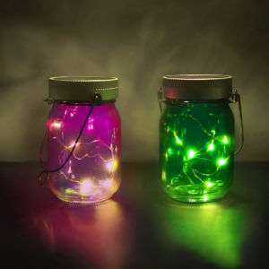 Regalo Luci in Barattolo Fairy Jars – set da 2