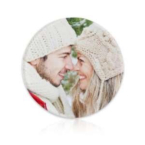 Idea regalo Sottobicchieri personalizzabili con foto rotondi