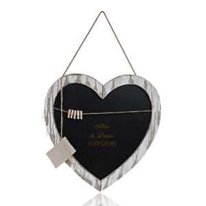 Idea regalo Grande lavagna a forma di cuore con incisione