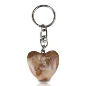 Idea regalo Portachiavi Cuore tascabile personalizzabile con incisione