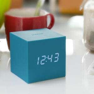 Idea regalo Orologio Sveglia Gravity Cube – Nero