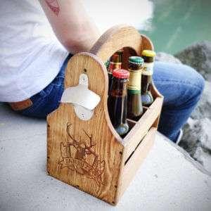 Regalo Porta Birre in legno Sixpack