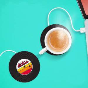 Idea regalo Vinile Scaldatazze USB