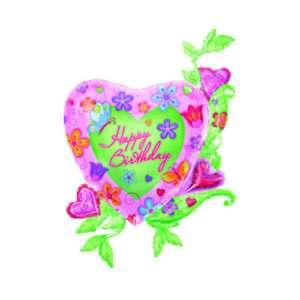 Idea regalo Pallone a elio a forma di cuore Happy birthday