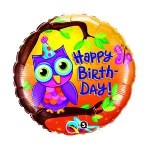 Idea regalo Palloncino a elio Happy Birthday (Gufo)