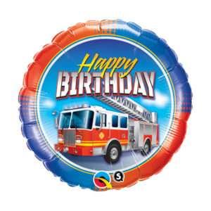 Idea regalo Palloncino ad elio Happy Birthday (Macchina dei pompieri)