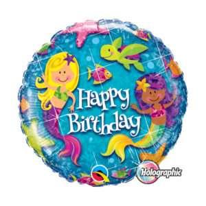 Idea regalo Palloncino a elio Happy Birthday (Sirenette)