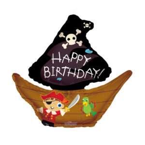 Idea regalo Palloncino a elio Happy Birthday (Barca dei pirati)