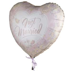 Idea regalo Palloncino a elio Just Married (Rose)