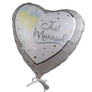 Idea regalo Palloncino a elio Just Married (champagne)