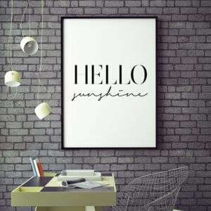 Regalo Hello Sunshine Poster di MottosPrint