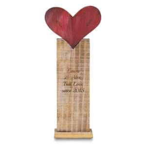 Idea regalo Piccola scultura con cuore da personalizzare
