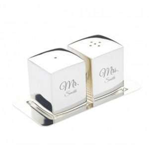 Idea regalo Saliera e porta pepe con incisione personalizzata