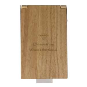 Idea regalo Portagioie in legno personalizzabile con incisione