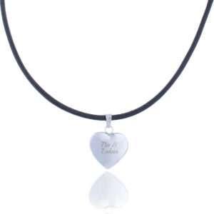 Idea regalo Collana di cuoio con cuore pendente personalizzabile