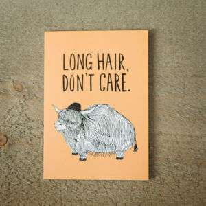 Idea regalo Biglietto DAuguri Long Hair
