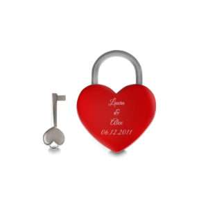 Idea regalo Lucchetto Cuore rosso personalizzabile