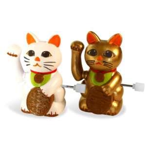 Idea regalo Maneki neko – Set di 2 gatti della fortuna