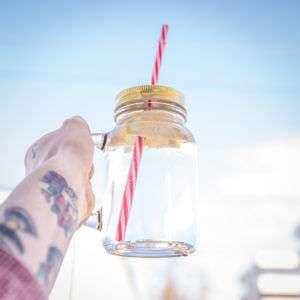 Idea regalo Barattoli in vetro con manico  set da 4