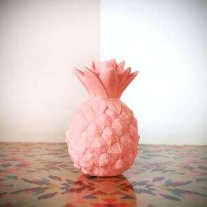 Idea regalo Mini Lampada Ananas Rosa