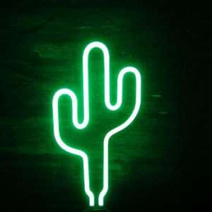 Idea regalo Lampada Neon Cactus