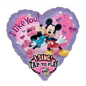 Idea regalo Palloncino a elio sonoro con tema Mikey e Minnie innamorati