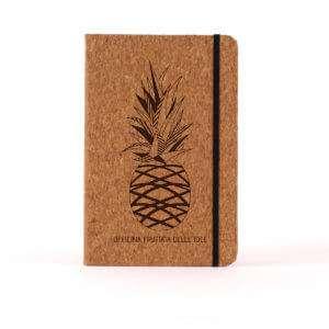 Regalo Notebook Personalizzabile in sughero  Ananas