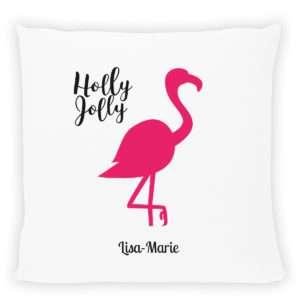 Idea regalo Cuscino personalizzabile con stampa Flamingo