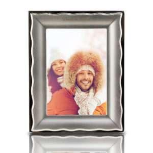 Idea regalo Cornice portafoto personalizzabile Onde dargento