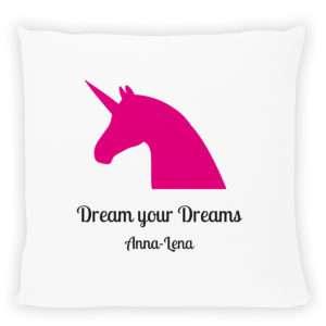 Idea regalo Cuscino personalizzabile con stampa Unicorno