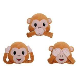 Idea regalo Cuscino-Peluche Emoticon Scimmietta