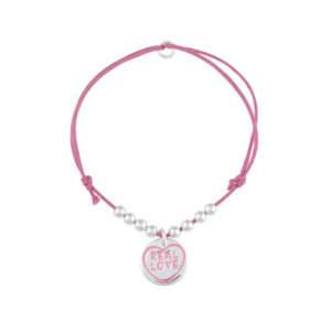Idea regalo Braccialetto rosa Real Love