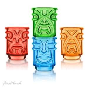 Idea regalo Set bicchieri Tiki colorati
