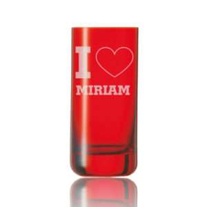 Idea regalo Bicchiere rosso personalizzabile con messaggio damore