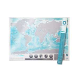 Idea regalo Cartina da grattare Oceani