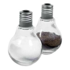 Idea regalo Salz- und Pfefferstreuer Glühbirnen