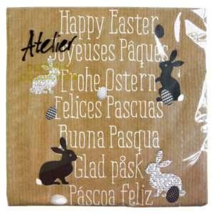 Idea regalo Tovaglioli Buona Pasqua in 7 lingue